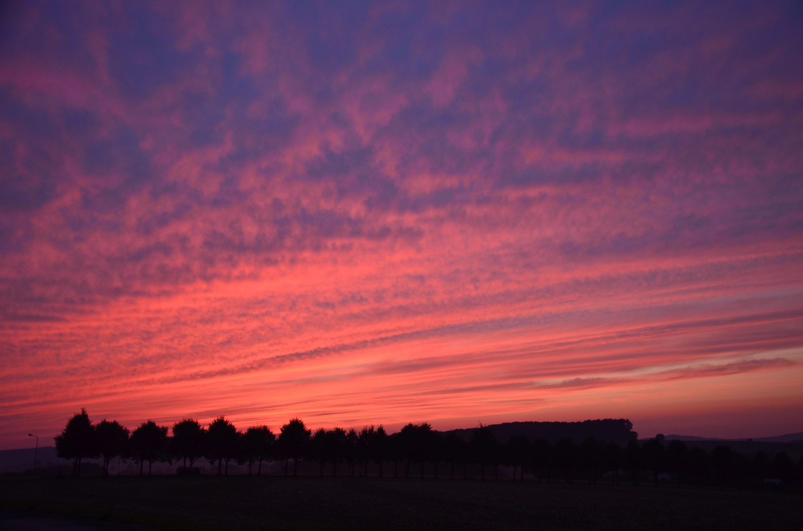 Barntruper Sonnenuntergang