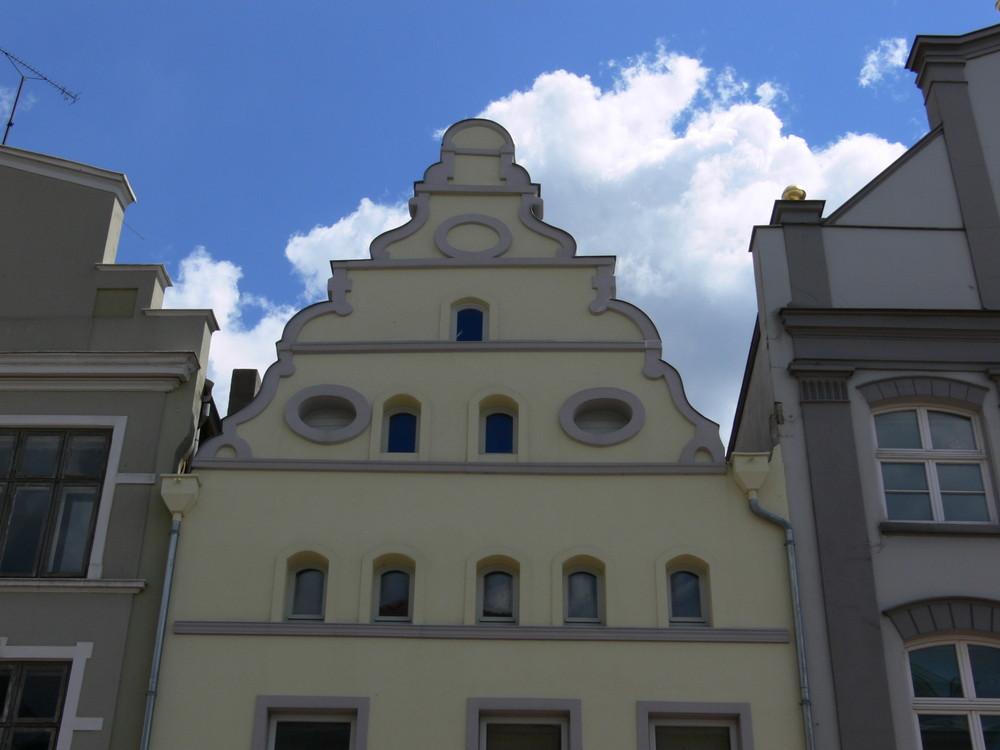 Barockgiebel in Wismar - Juni 2006