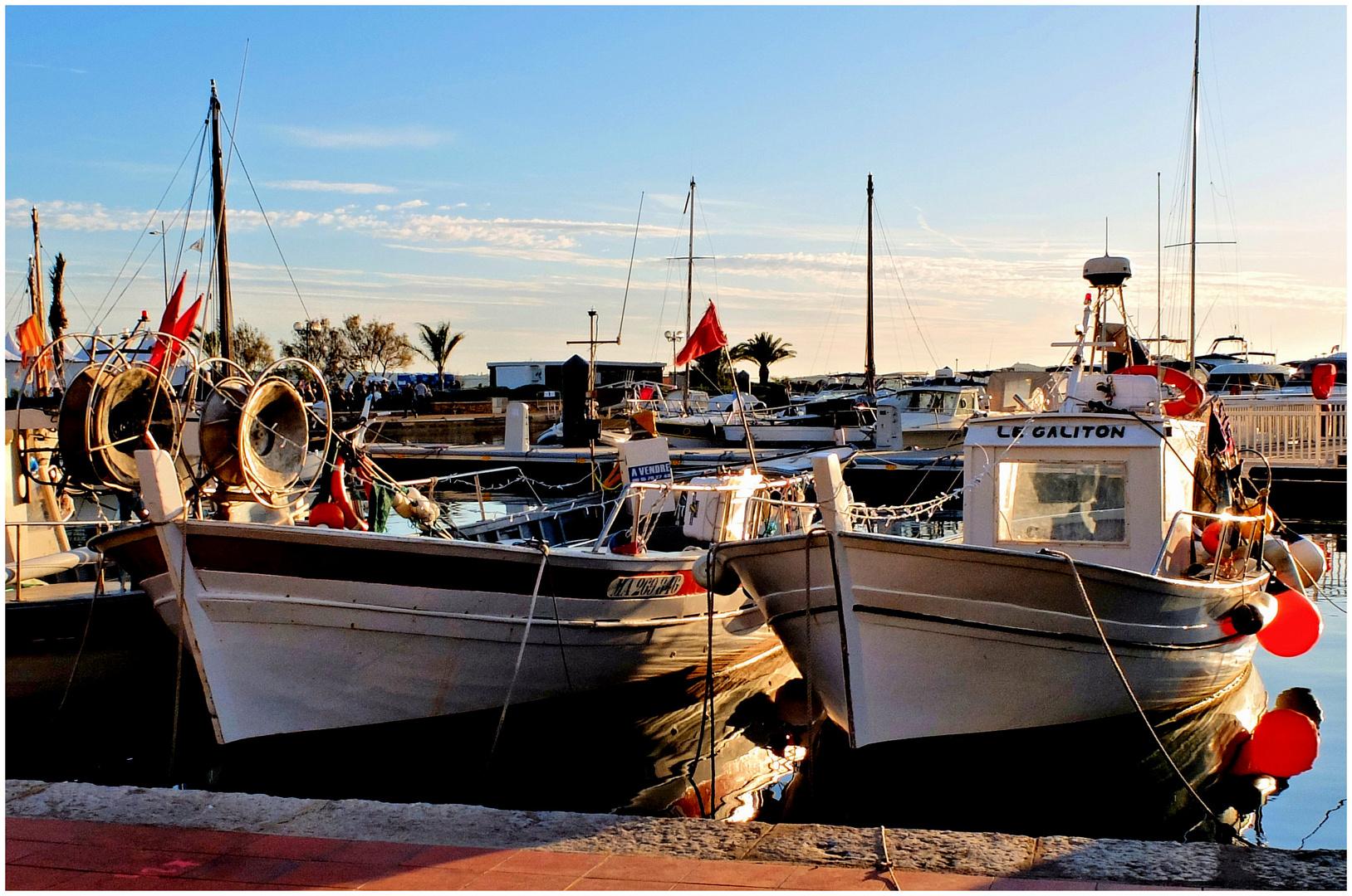 Barques au couchant