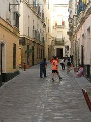 Barrio del Populo in Cadiz, Andalusien