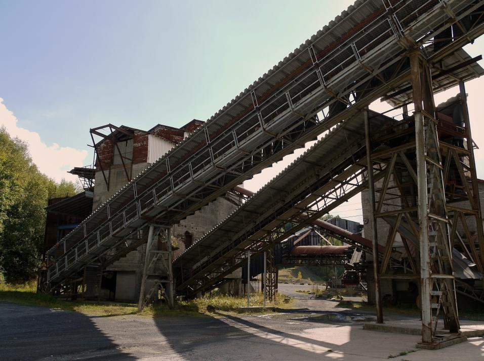 Basalt - Förderanlage außer Betrieb