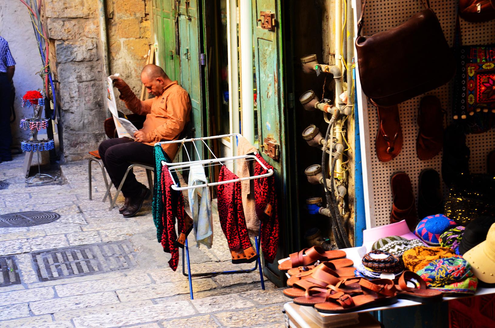 Basarladen in einem Jerusalemer Hinterhof