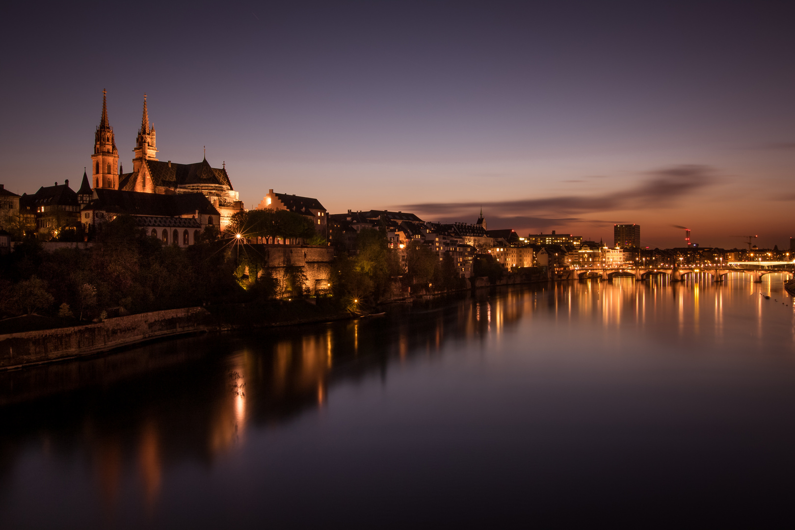 Basel by night,