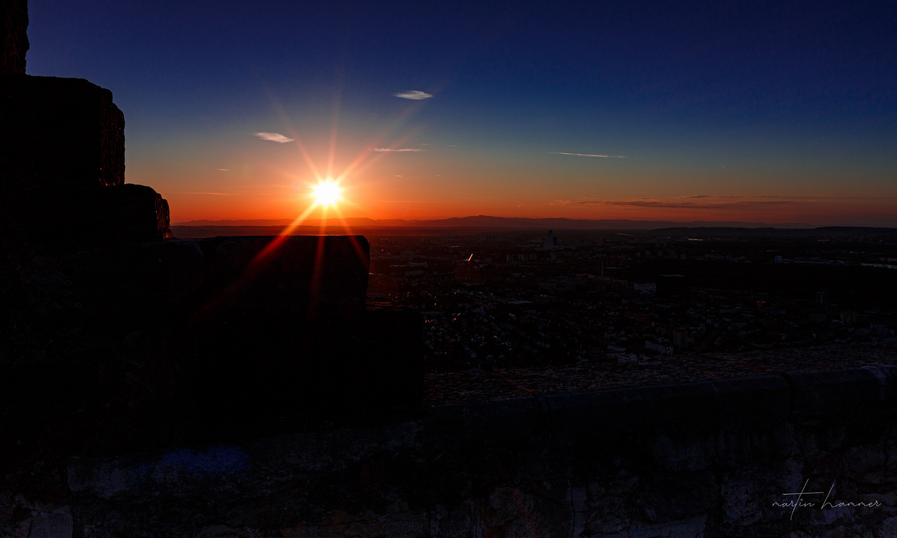 Basel im Sonnenuntergang