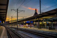 Basel SBB zur blauen Stunde