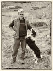 Baskischer Schäfer in den Pyrenäen