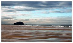 Bass Rock from Tyninghame Beach