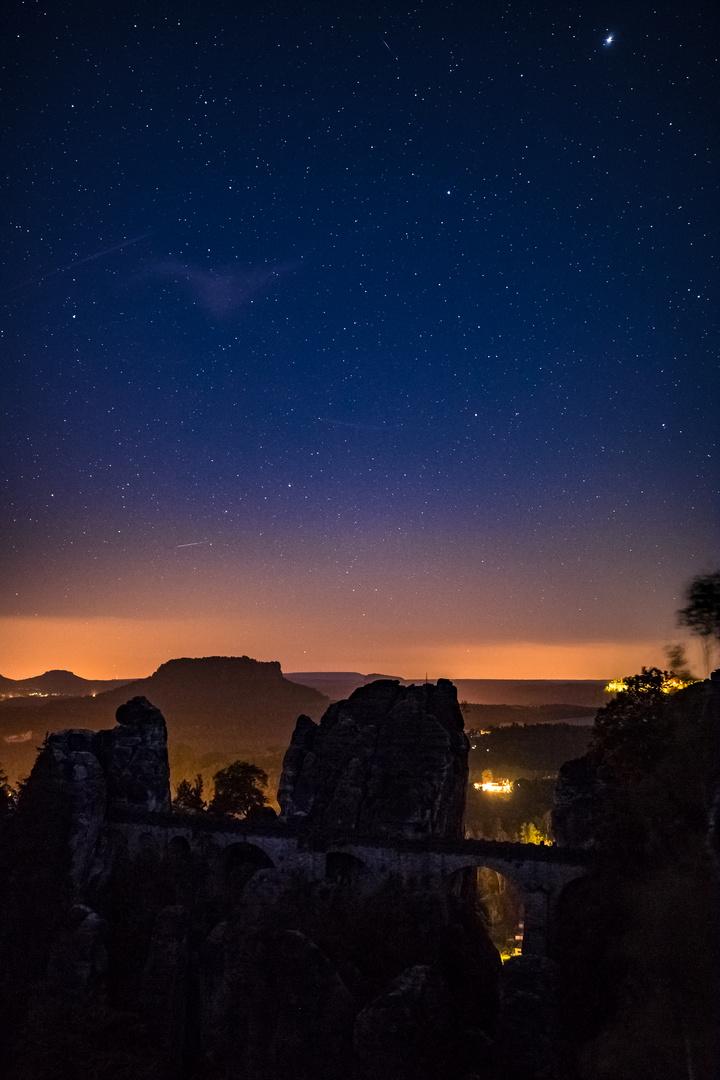 Bastei in der Nacht
