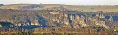 Bastei von der Festung Königstein aus, wobei es ...