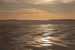 Batskärsnäs_gefrorenes Meer_Sonnenuntergang