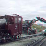 Bauarbeiten bei der Schafbergbahn am Bahnhof Schafberg Spitze