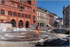 Bauarbeiten in der Basler Innenstadt
