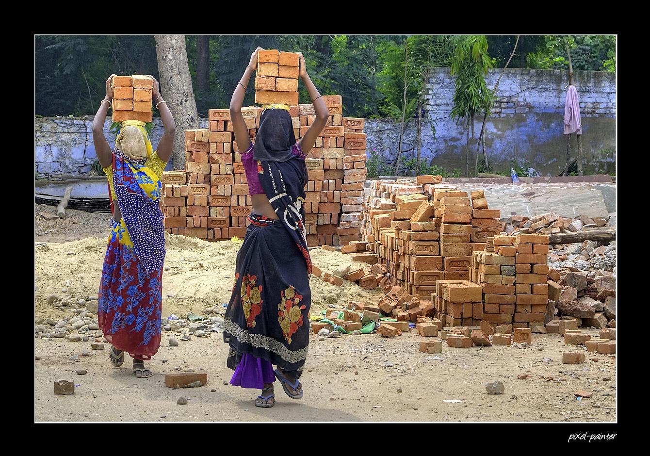 Bauarbeiterinnen Foto Bild World India Asia Bilder Auf