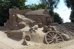 Bauernhof - ganz auf uns aus Sand gebaut