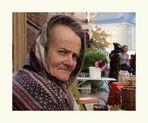 bauersfrau auf dem markt in ....