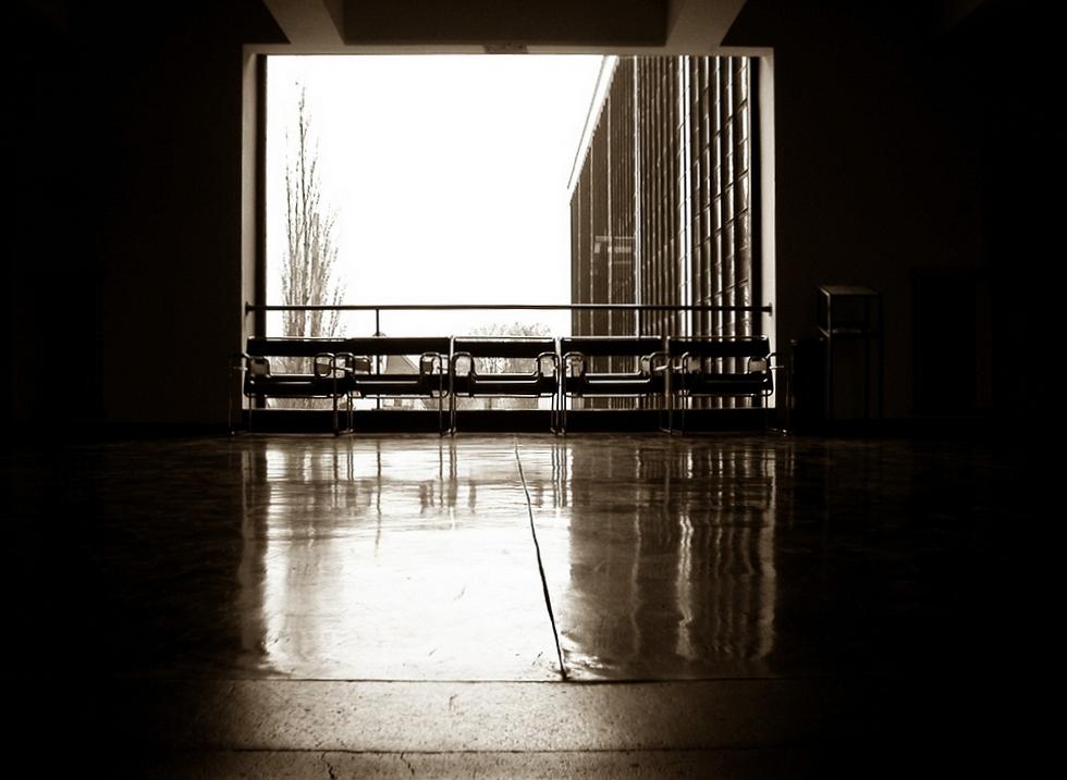 .Bauhaus Treppenhaus, Dessau 2003