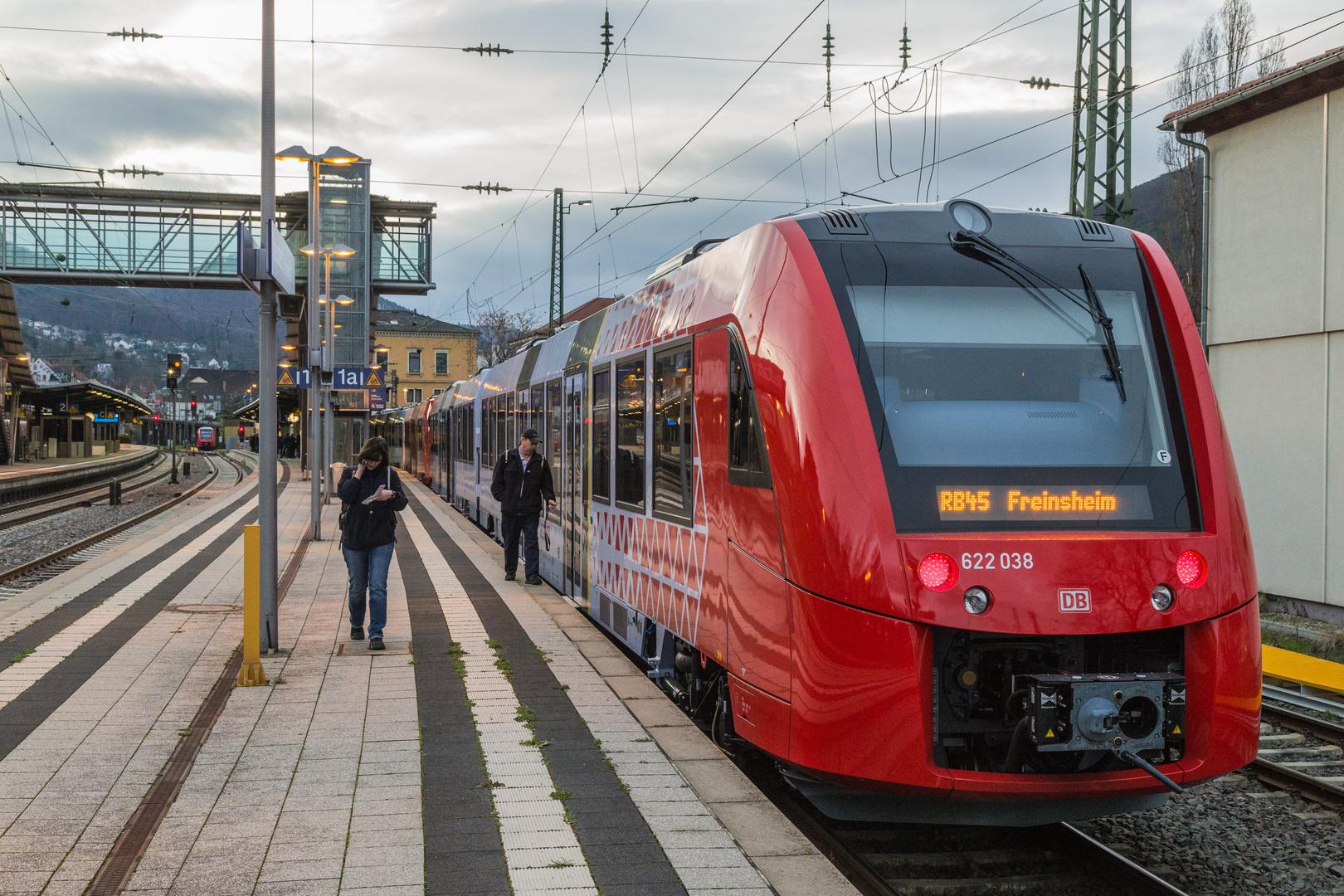 Baureihe 622 Lint Triebwagen zum Fahrbahnwechsel am 13.12.2015