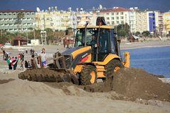 Baustelle am Strand von Alanya, Türkei