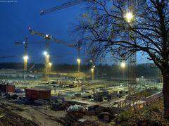 Baustelle der Ruhrgas/E.ON in Essen