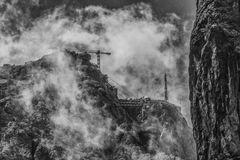 Baustelle in den Wolken