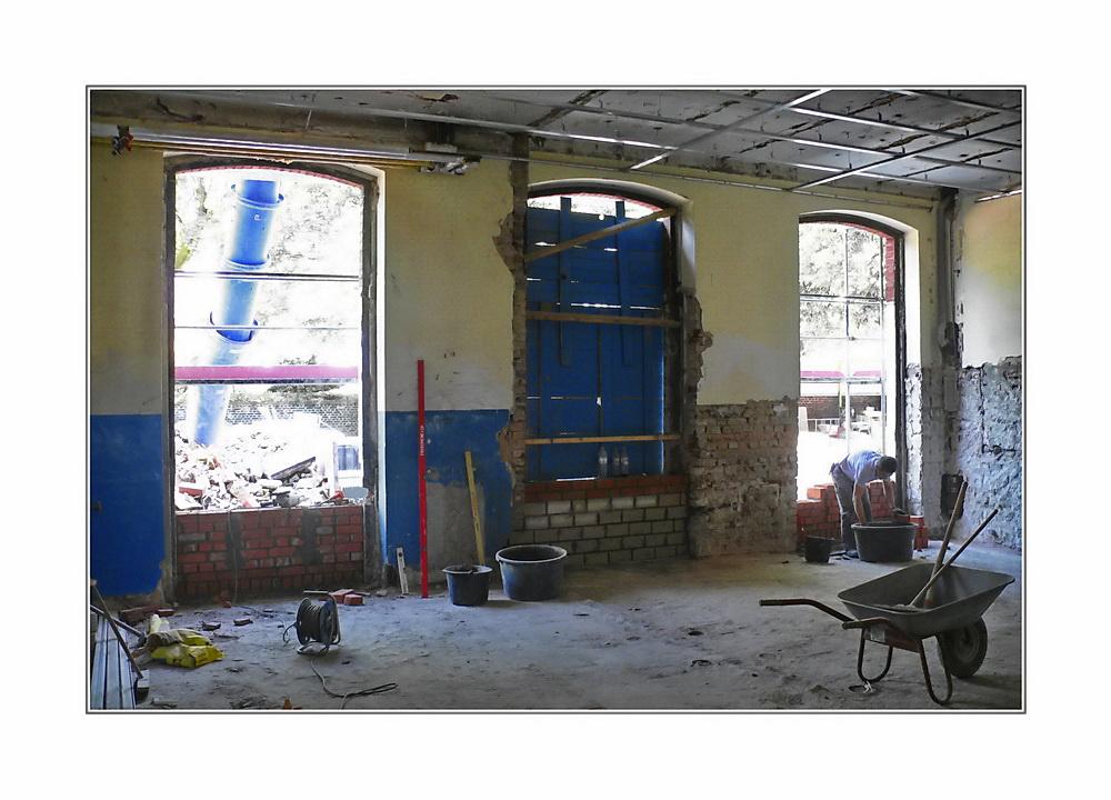 Baustellenromantik 13 ... wo gehobelt wird, da fallen Späne