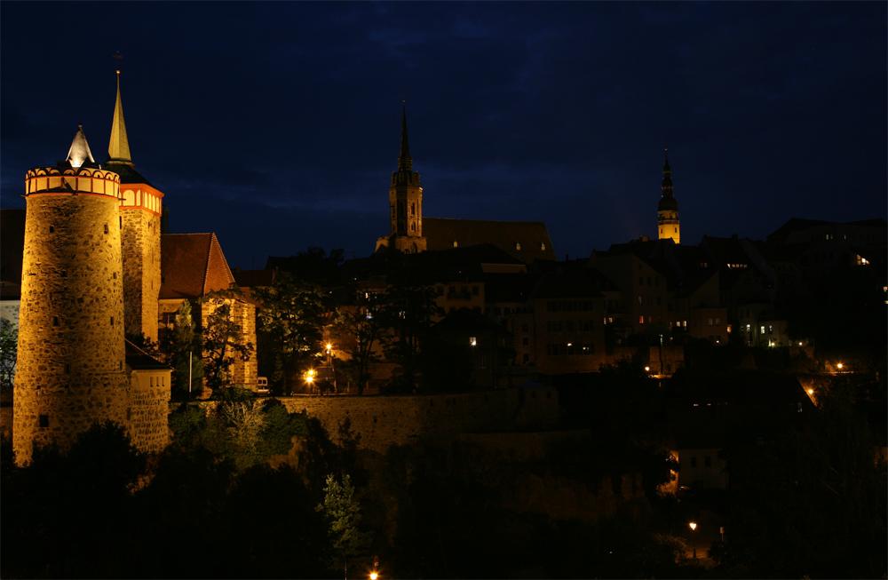 Bautzen - Altstadt bei Nacht