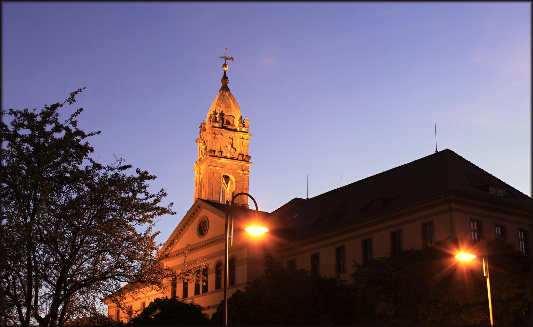 Bautzen( Blick auf den Reichenturm bei Nacht)