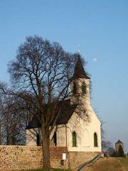 Bautzen, Kirche auf dem Protschenberg, abends
