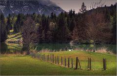Bayerische Landschaft ... mit Anglern
