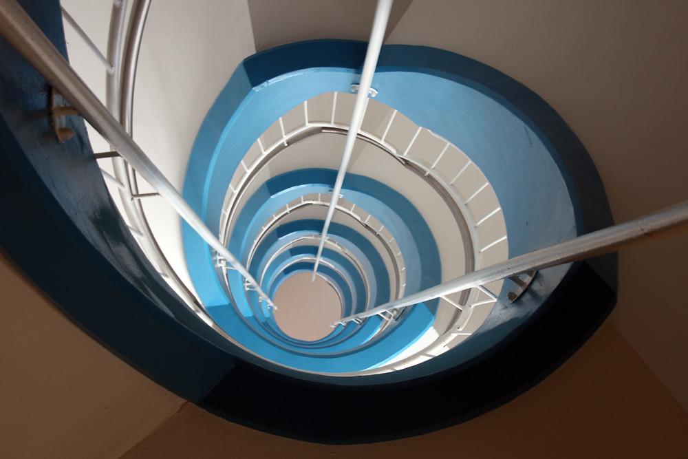 Bayerische Treppe blau/weiß