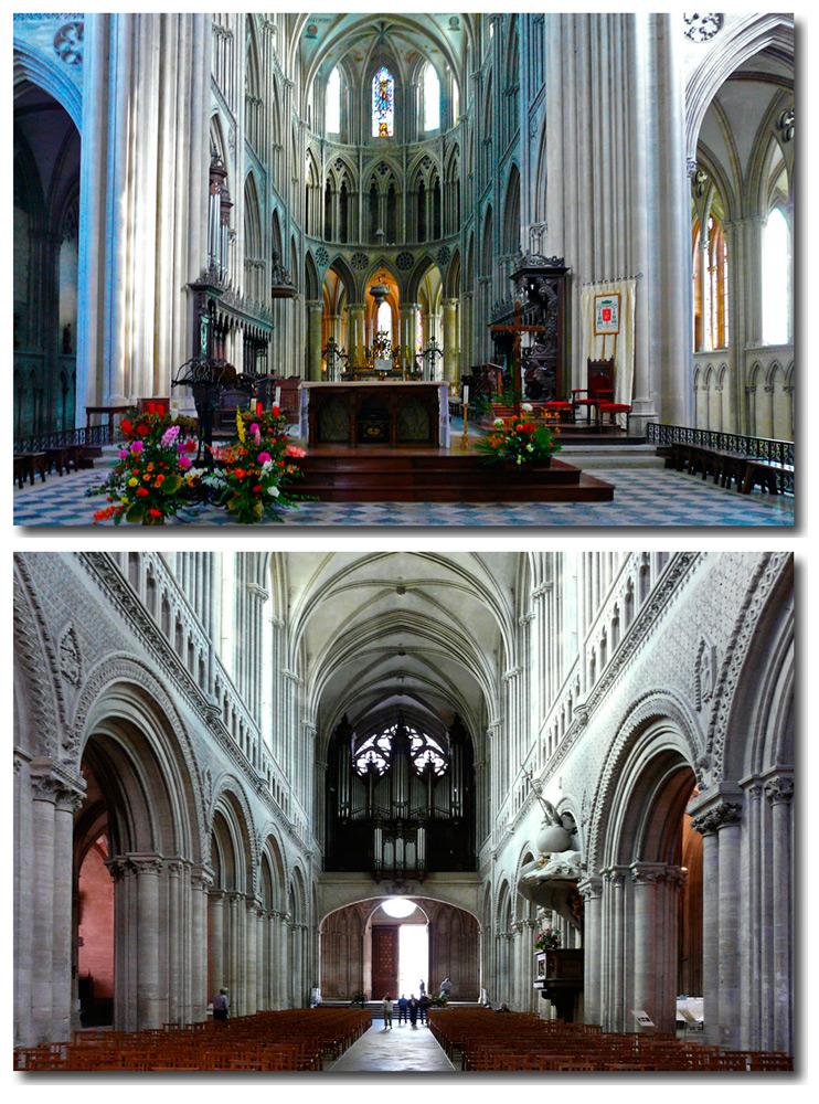 Bayeux - Kathedrale - Apsis - Orgel -