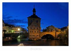 """Bayrische Impressionen """" Bamberg - altes Rathaus bei Nacht... """""""