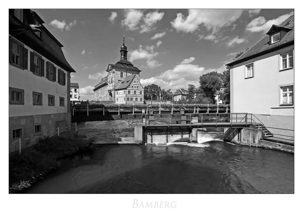 """Bayrische Impressionen """" Bamberg, der Blick zum alten Rathaus... """""""