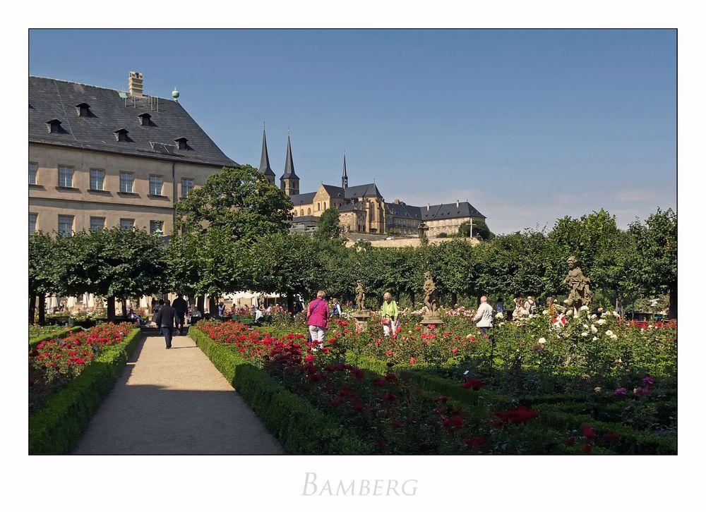 """Bayrische Impressionen """" Bamberg - Rosengarten... der Neuen Residenz..."""""""