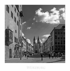 """Bayrische Impressionen """" der Blick zum St. Kiliansdom zu Würzburg.... """""""