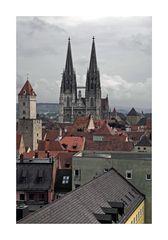 """Bayrische Impressionen """" Regensburg, der Blick zum DOM"""""""