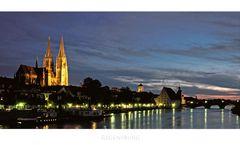 """Bayrische Impressionen """" Regensburg, der Blick zum Dom am Abend """""""