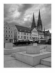 """Bayrische Impressionen """" Regensburg - der Blick zum Dom - St. Peter """""""