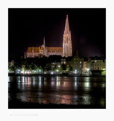 """Bayrische Impressionen """" Regensburg, der Blick zum DOM_ ST. Peter"""