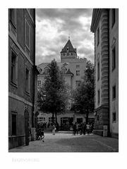 """Bayrische Impressionen """" Regensburg - der Blick, zum Goldenen Turm """""""