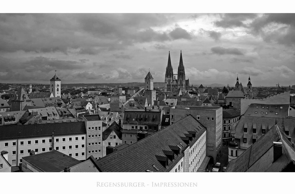 """Bayrische Impressionen """" Regensburg, die Stadt der Türme"""""""