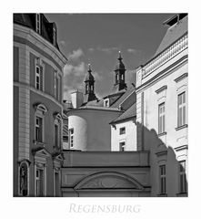 """Bayrische Impressionen """" Regensburg - die Türme der Neupfarrkirche, aus meiner Sicht... """""""