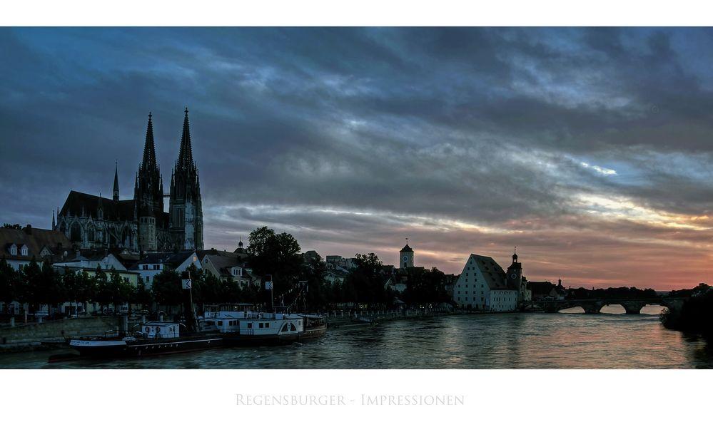 """Bayrische Impressionen """" Regensburger Sonnenuntergang """""""