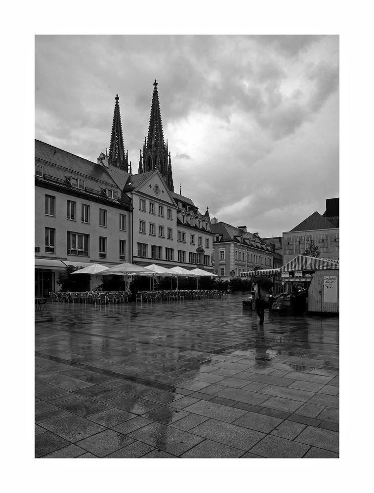 """Bayrische Impressionen """" Regensburger - Stadtansichten im Regen """""""