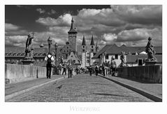 """Bayrische Impressionen """" Würzburg - Blick von der alten Mainbrücke..."""""""