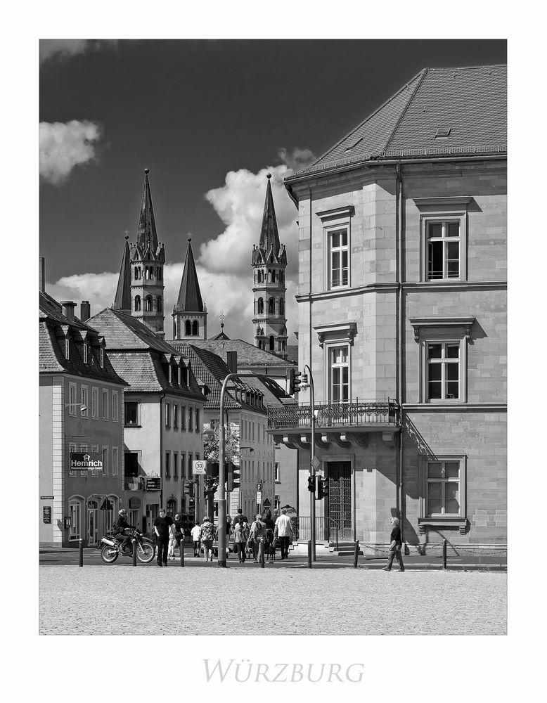 """Bayrische Impressionen """" Würzburg - Blick zum Dom St. Kilian aus meiner Sicht..."""""""