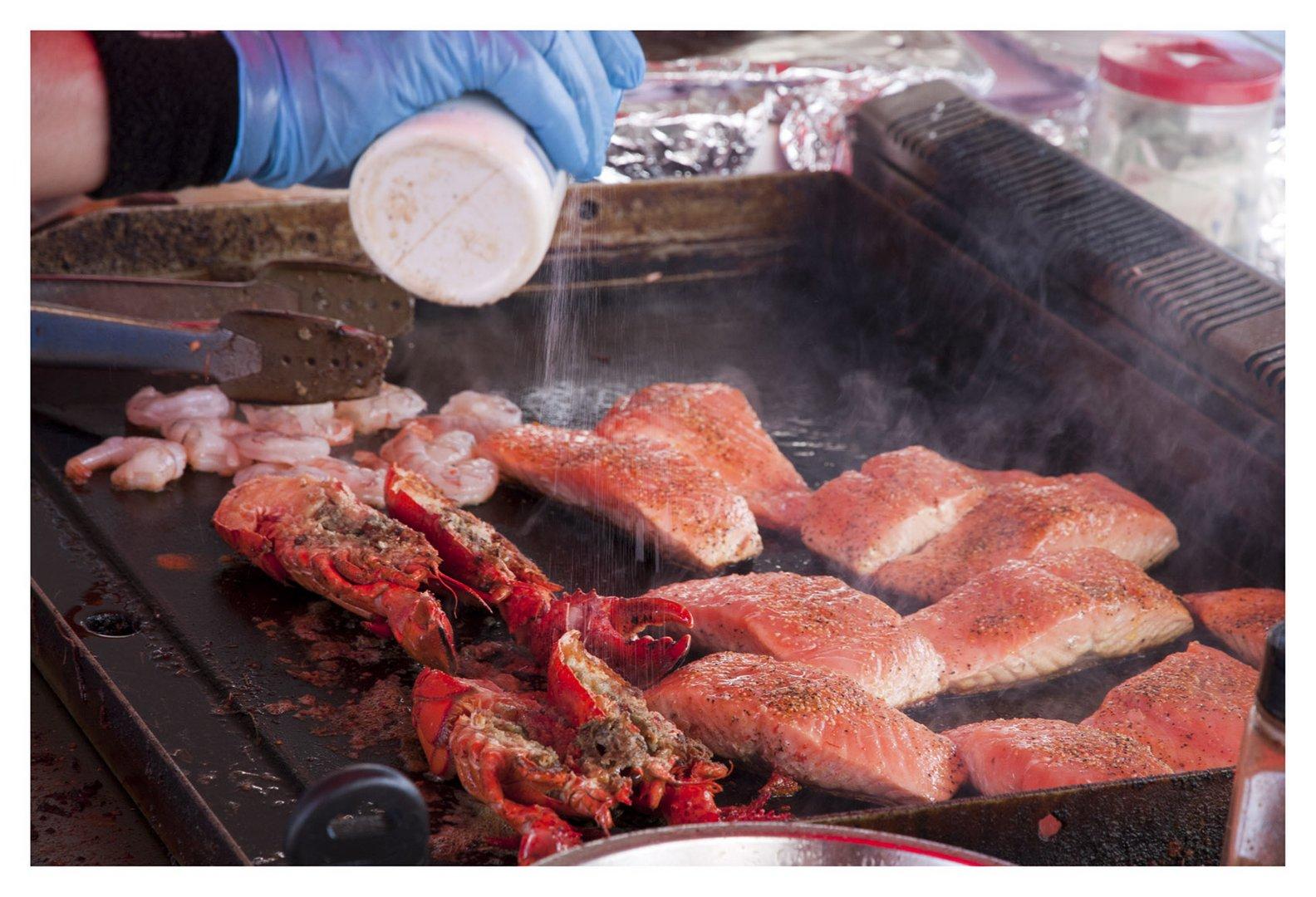 BBQ Fisch in Norwegen