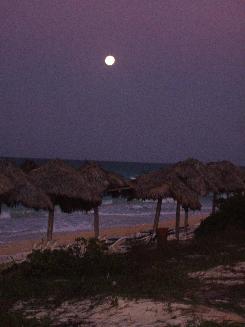 Beach and Mond