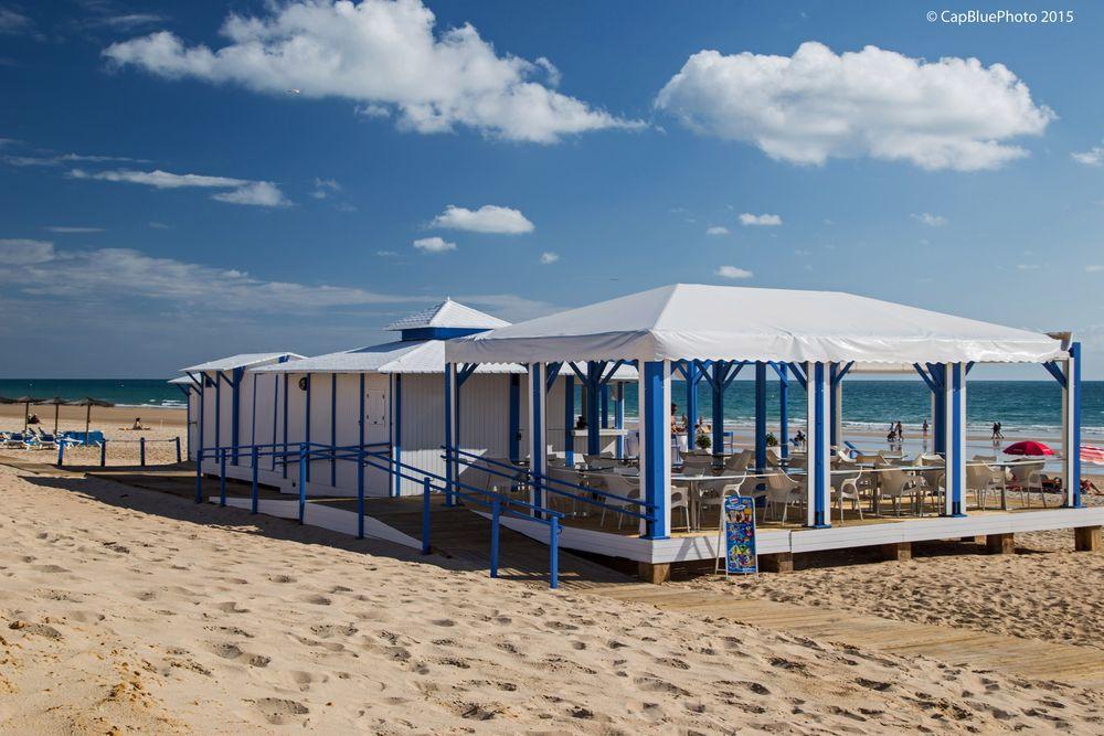 Beach-Bar an Barrosa Strand Costa de la Luz