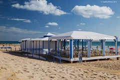 Beach-Bar an Barrosa Strand Costa de la Luz